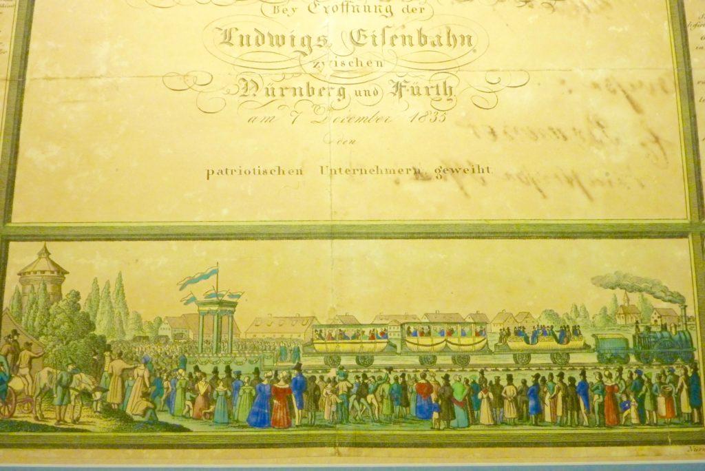 Ehrenblatt zur Erinnerung an die Eröffnung der ersten deutschen Eisenbahnstrecke | Foto: B. Schneider