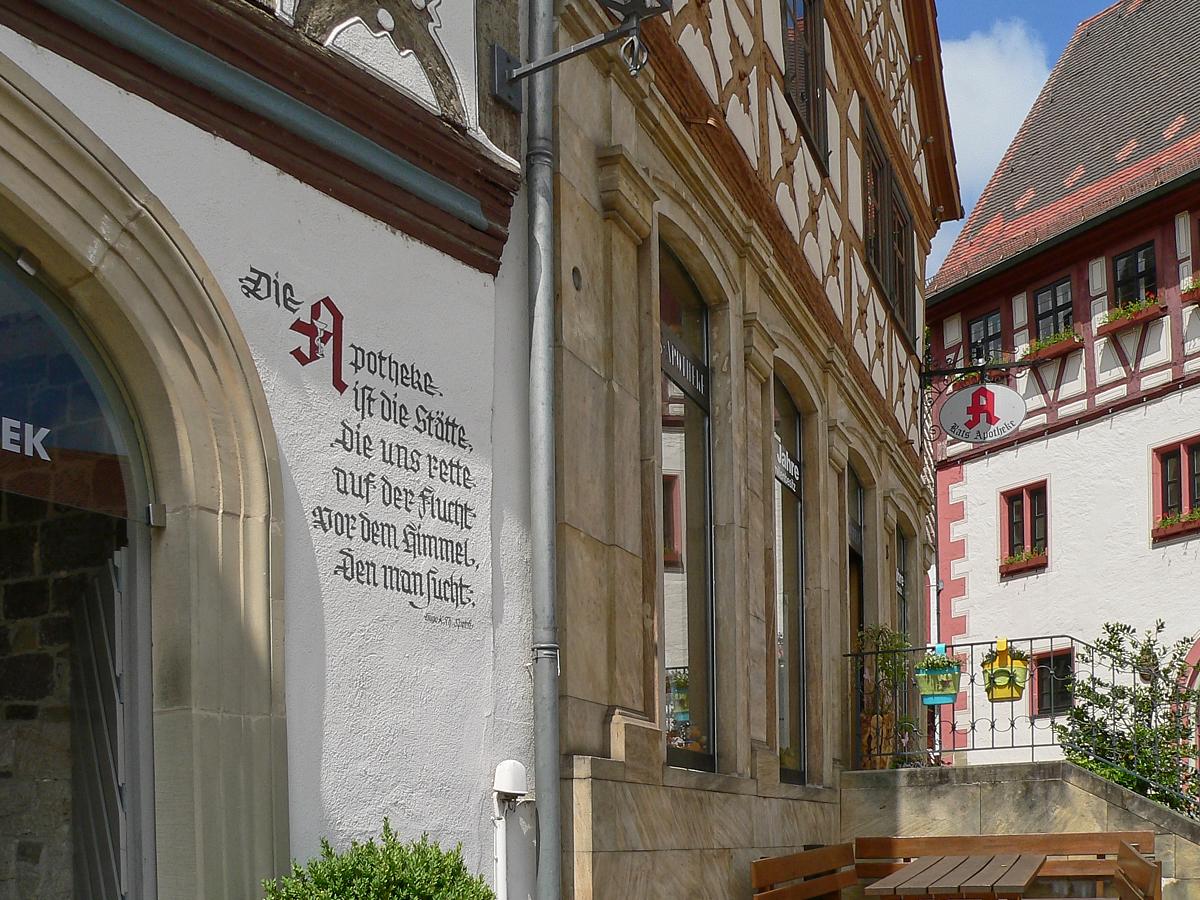 Die Zeiler Haussprüche geben manch interessante Wahrheit zum Besten. | Foto: B. Schneider