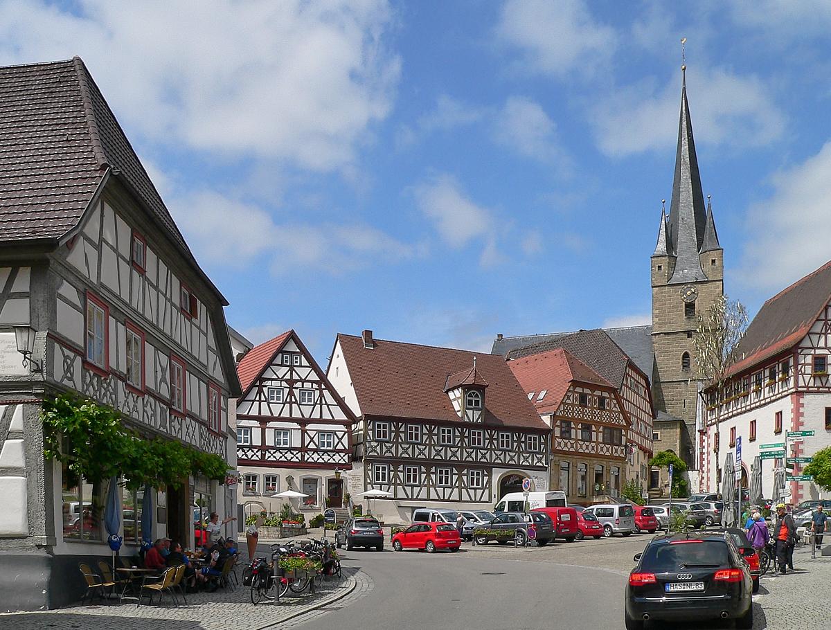 Marktplatz von Zeil a. Main | Foto: B. Schneider