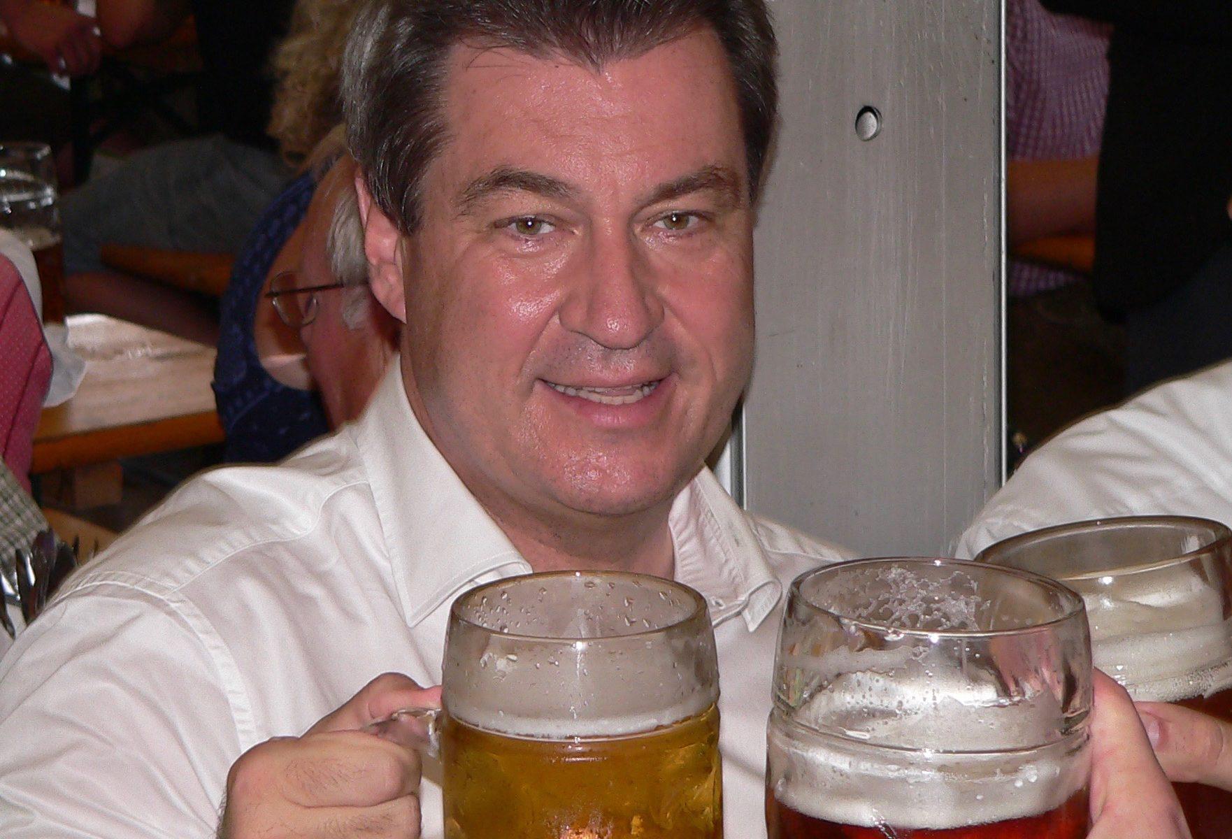 Bayerns Ministerpräsident Markus Söder besuchte die Lohrer Spessartfestwoche. | Fotos: B. Schneider