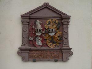 Wappen des Ritters Philipp von Gebsattel. | Foto: B. Schneider
