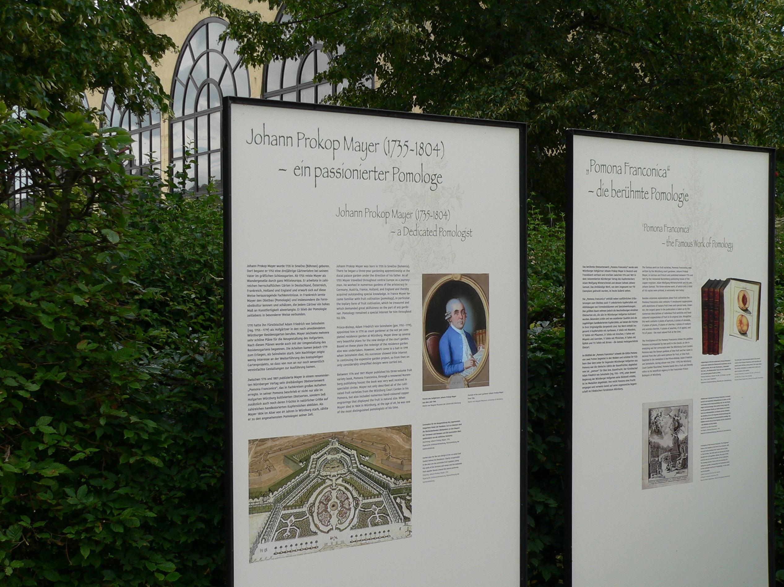 Der Hofgärtner Johann Prokop Mayer verfasste ein dreibändiges Fachbuch zum Obstbau. | Foto: B. Schneider