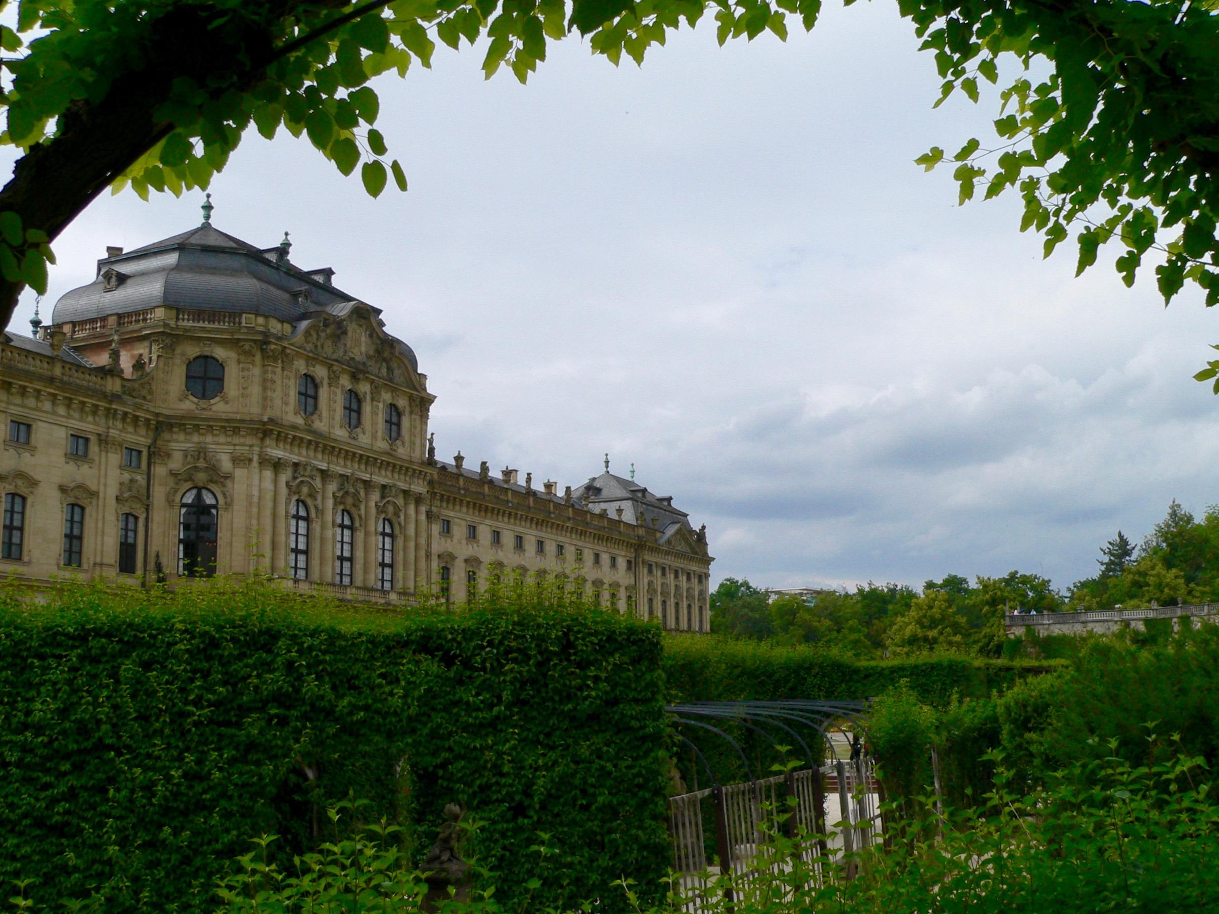 Gartenansicht der Würzburger Residenz. | Foto: B. Schneider