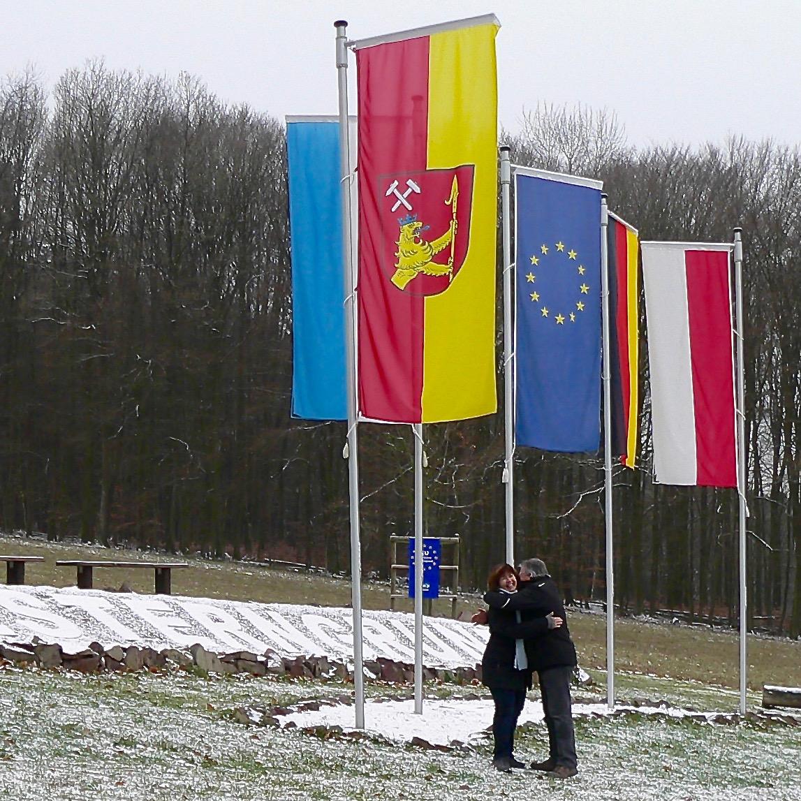 Der Mittelpunkt der Europäischen Union liegt seit 1.7.2013 in der Gemeinde Westerngrund im Landkreis Aschaffenburg. | Foto: B. Schneider