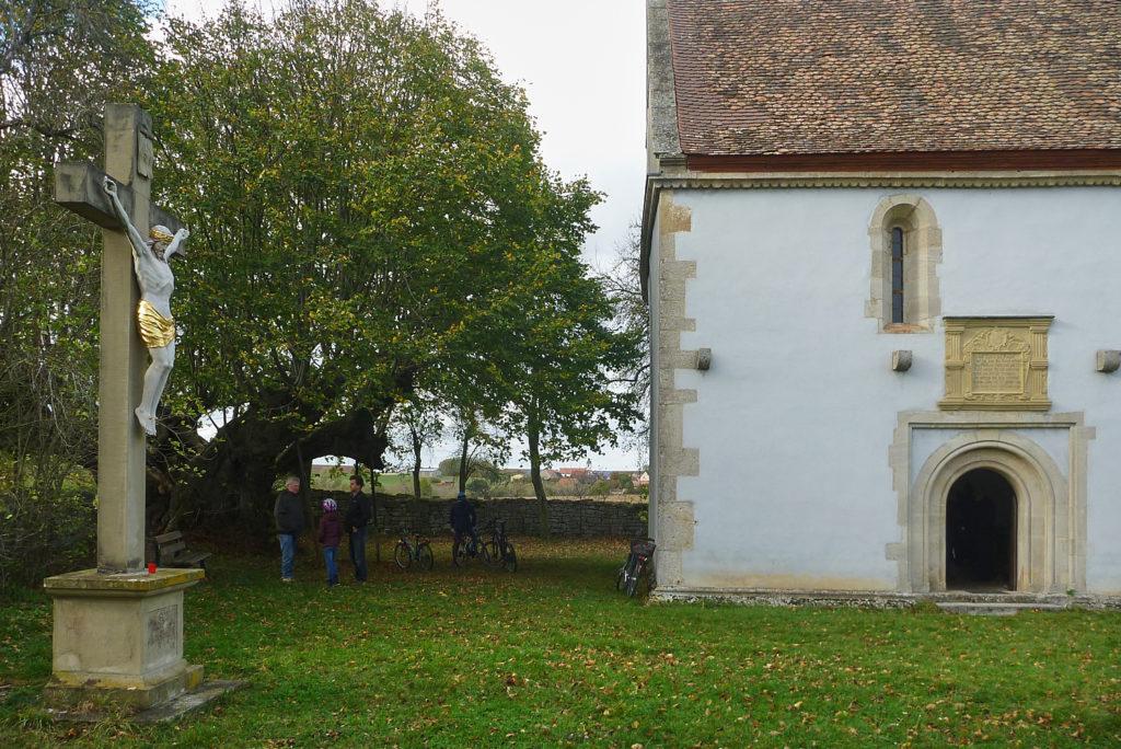 Bucher Kapelle mit 1.000-jähriger Weide, in der sich der Schleier der heiligen Kunigunde verfangen haben soll. | Foto: B. Schneider