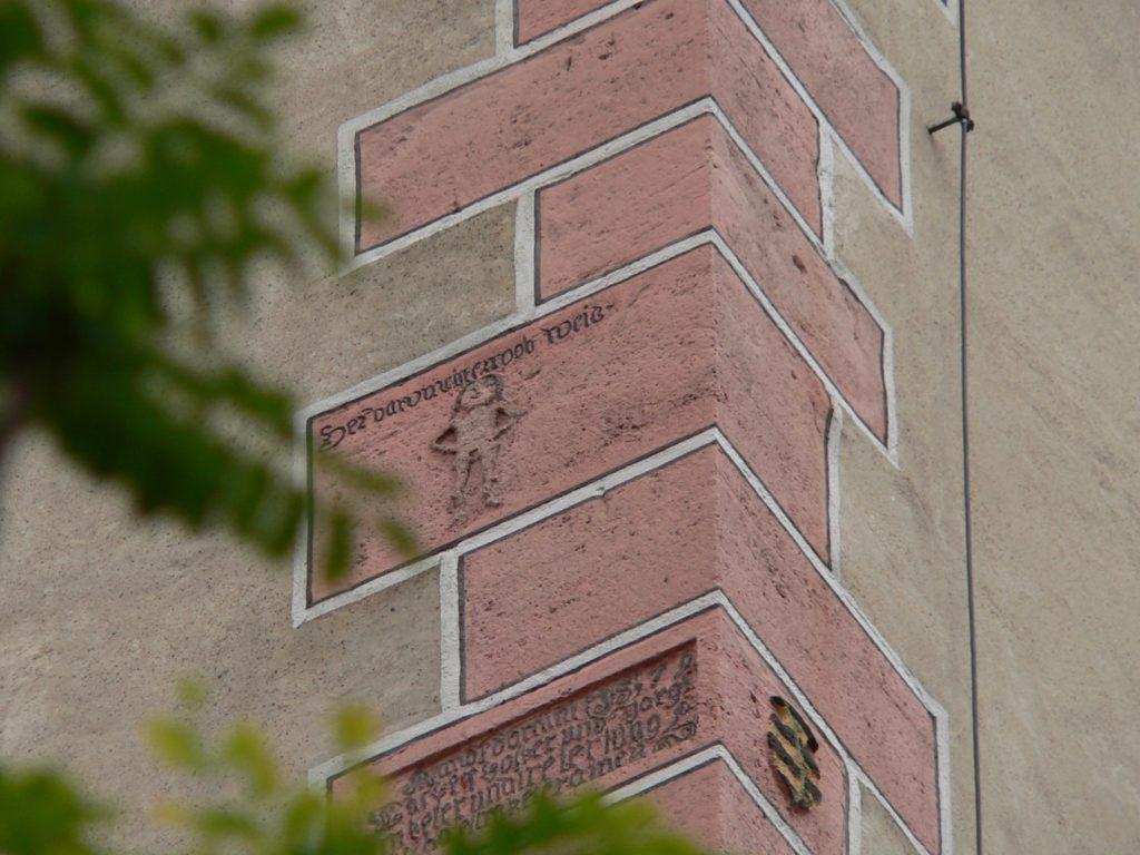 Öffentlicher Spott für das böse Weib des Baumeisters durch die Bauarbeiter. | Foto: B. Schneider