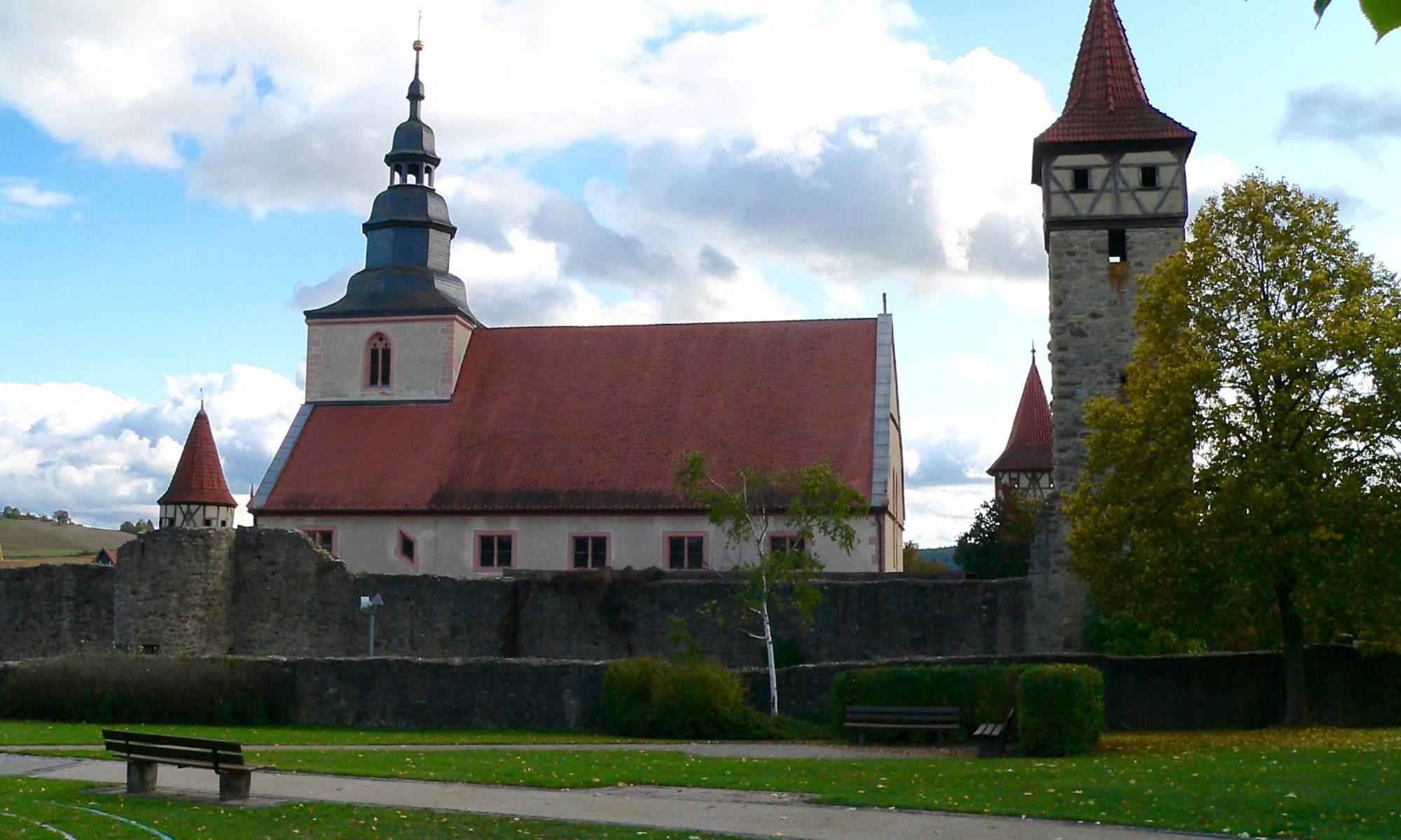 Kirchenburg in Ostheim vor der Rhön. | Foto: B. Schneider