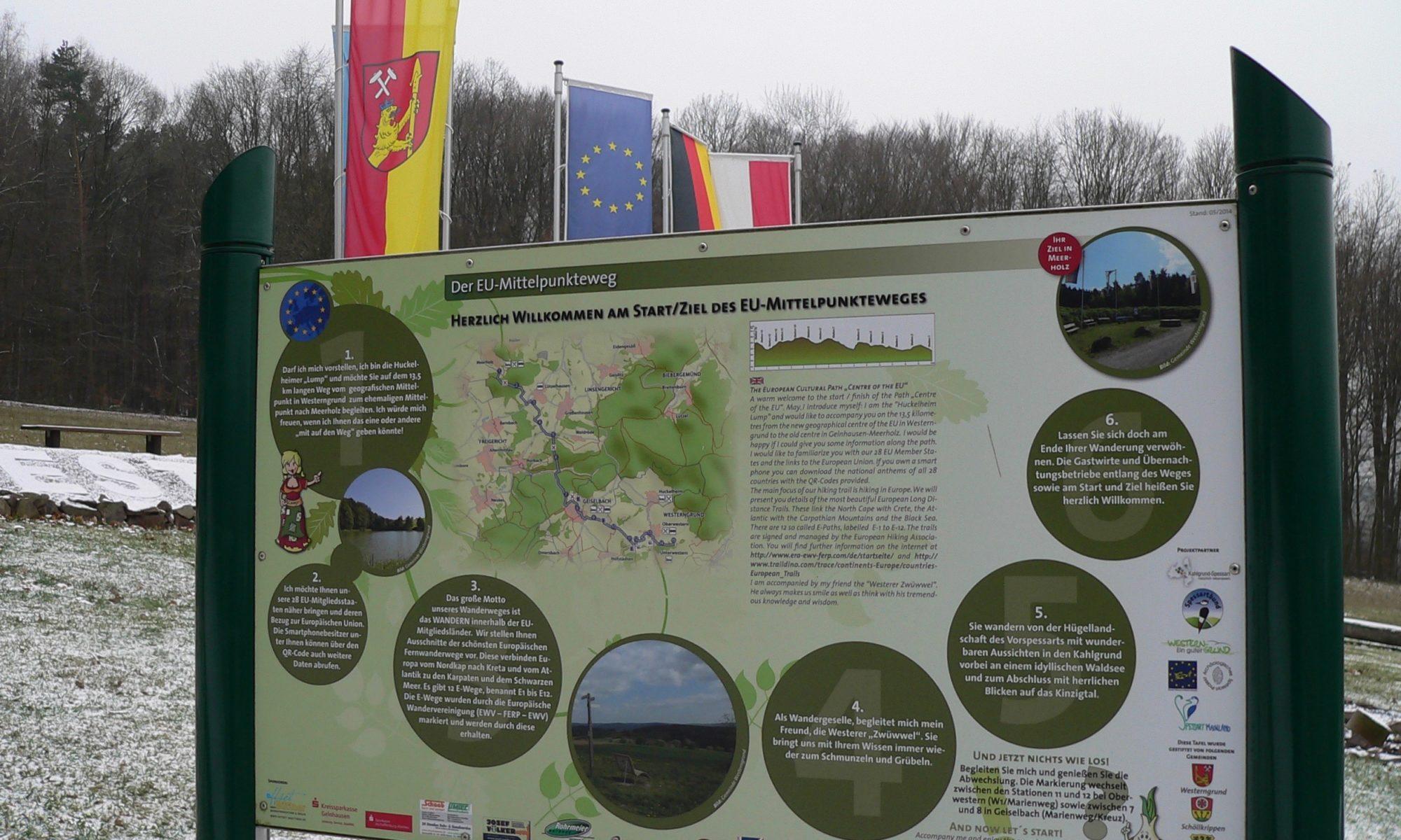 Einstiger EU-Mittelpunkt in Oberwestern. | Foto: B. Schneider