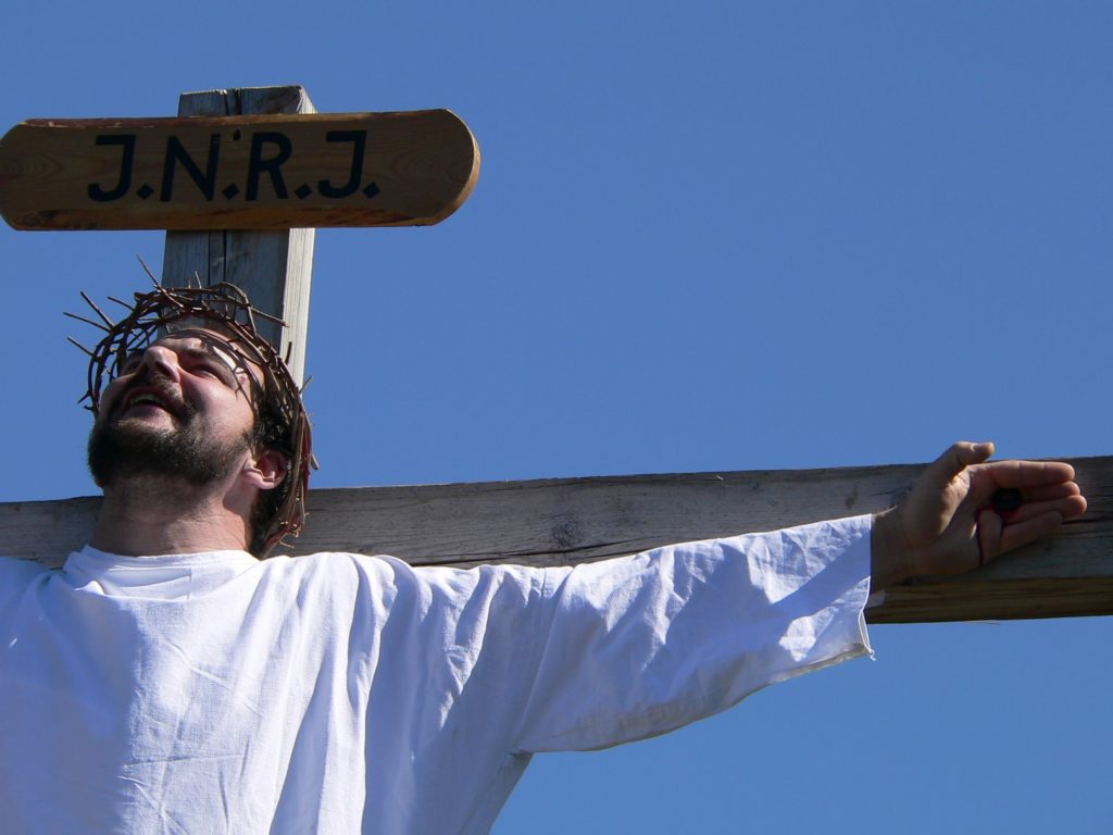 Jesus empfiehlt seinen Geist seinem himmlischen Vater und stirbt.