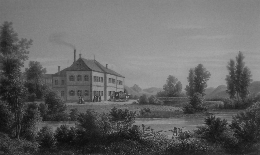 Die erste große eigenständige öffentliche Badeanstalt Kissingens war das Gasbad. | Reprofoto: B. Schneider (Dokumentation des Stadtarchivs)