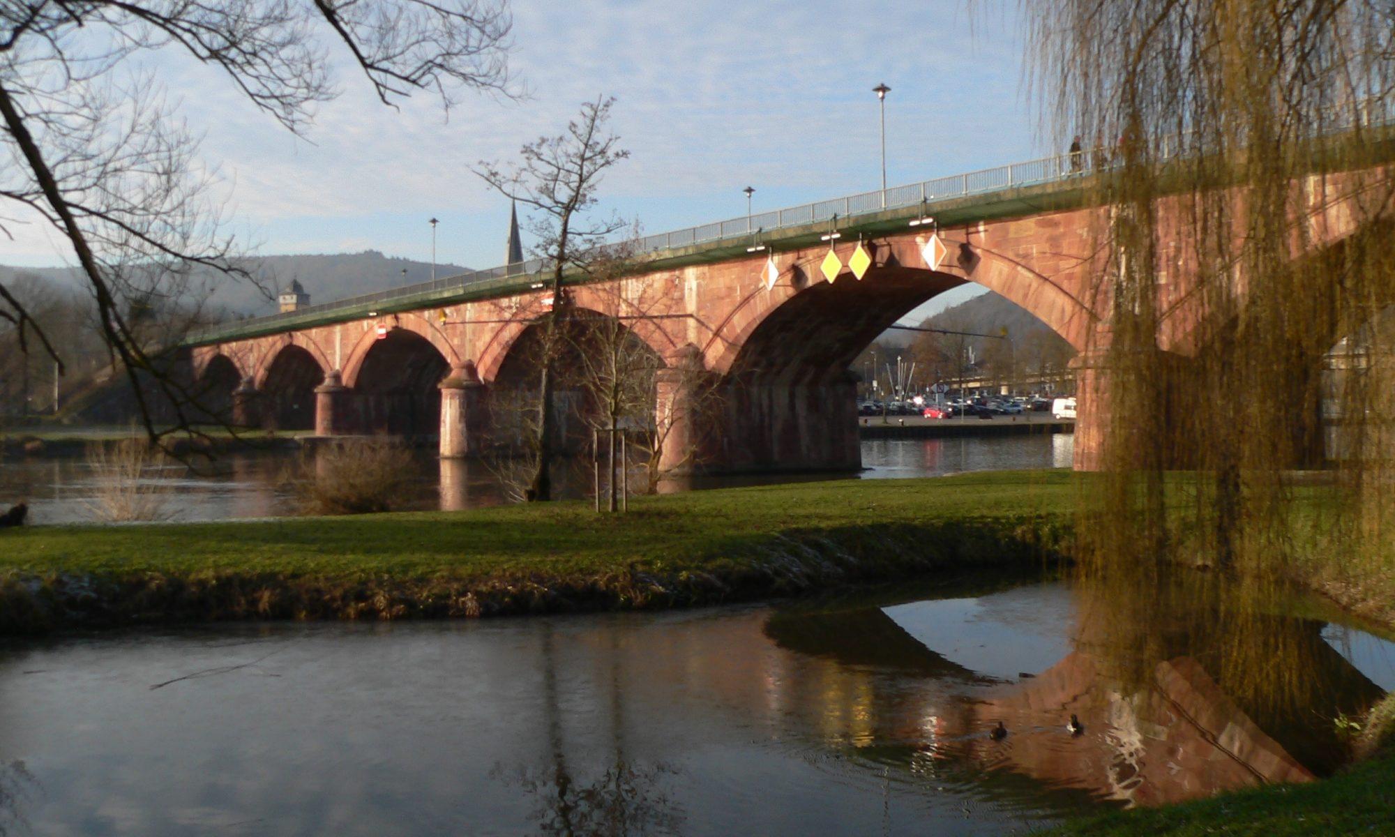 Alte Mainbrücke in Lohr. | Foto: B. Schneider