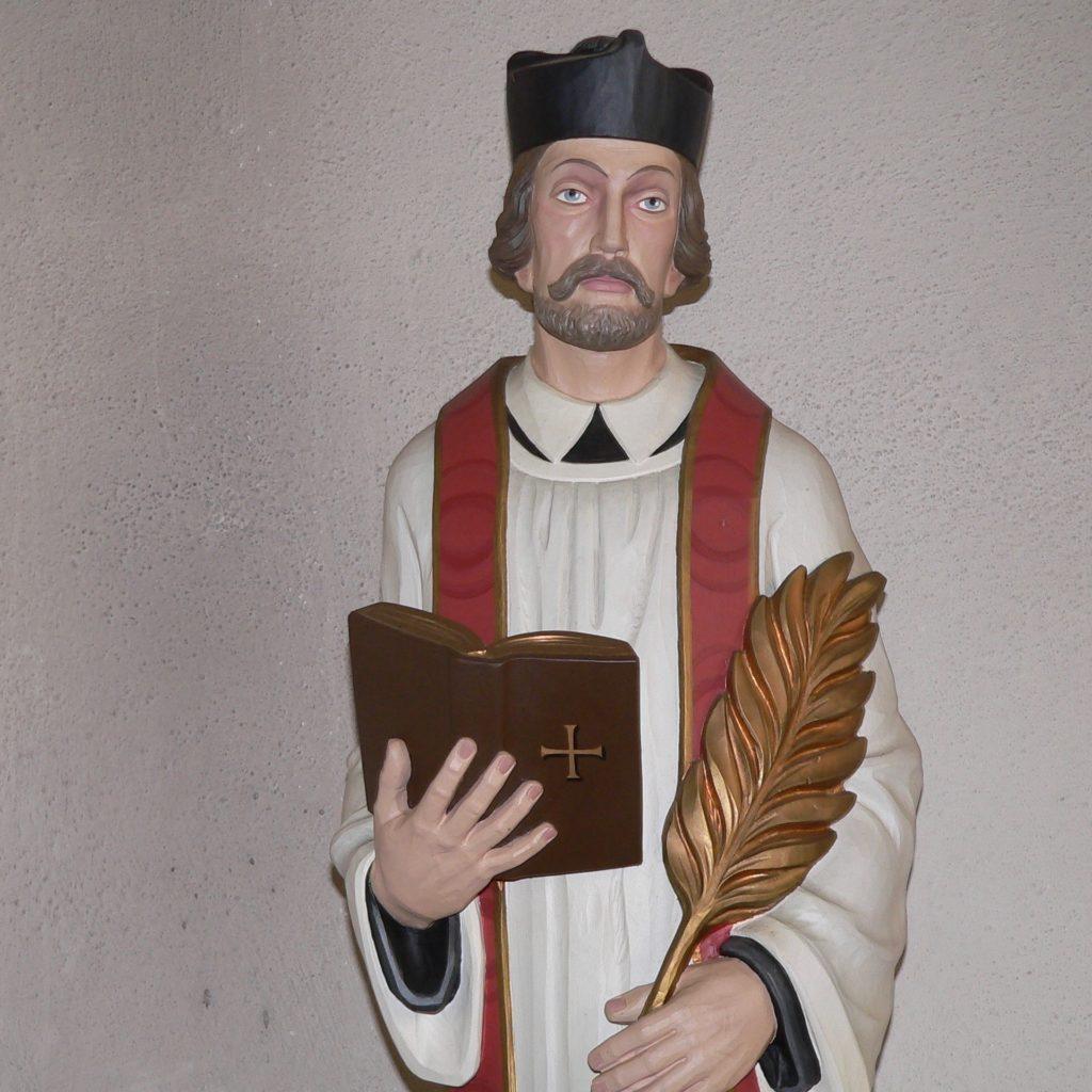 Darstellung des seligen Liborius Wagner in der Pfarrkirche in Altenmünster.