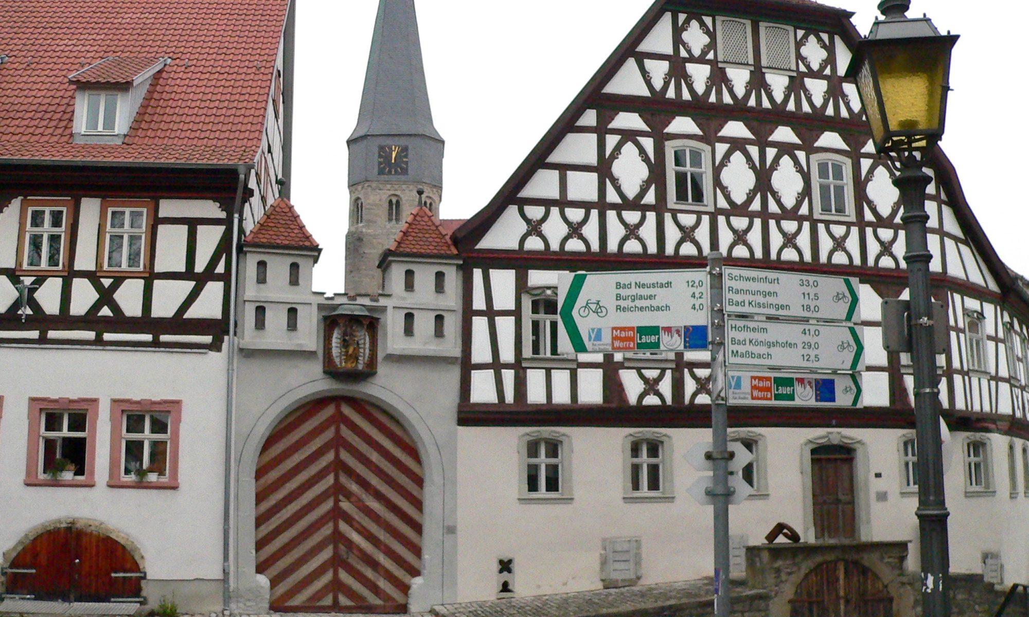 Münnerstadt - selbst lohnenswertes Ziel, aber auch Ausgangspunkt interessanter Touren. | Foto: B. Schneider