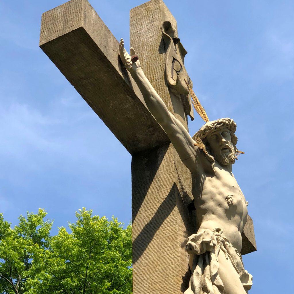 Jesus am Kreuz.